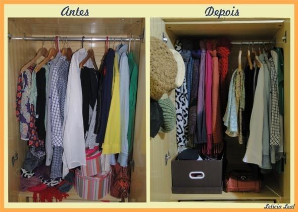 Adesivo De Espelho ~ 4 dicas rápidas para organizar guarda roupa