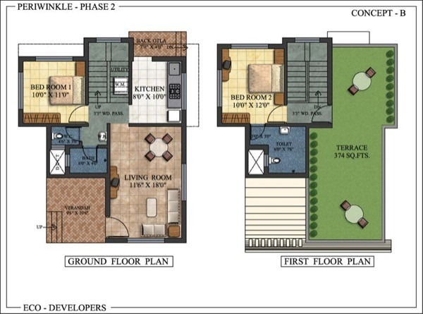 planos de casas pequenas con local comercial