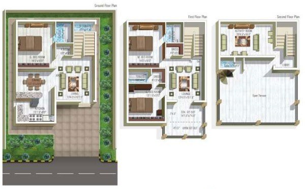 60 Modelos De Plantas De Casas Gr Tis E Projetos: indian villa floor plans