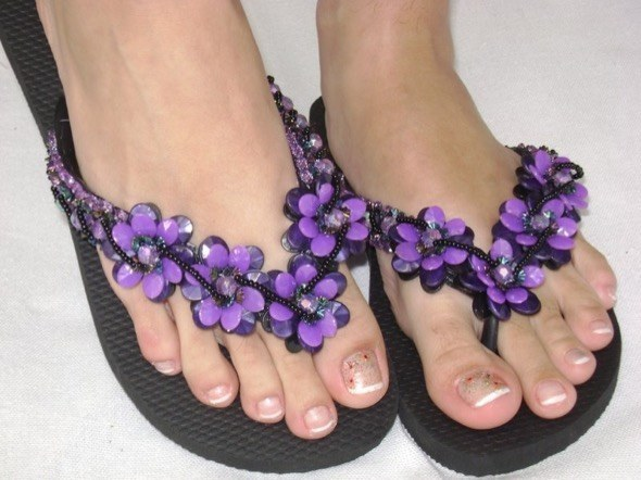 5-chinelos bordados