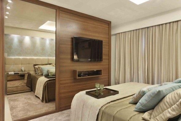 16 modelos de paredes de quarto de casal decoradas e 4 dicas ~ Revestimento Para Parede De Quarto Casal