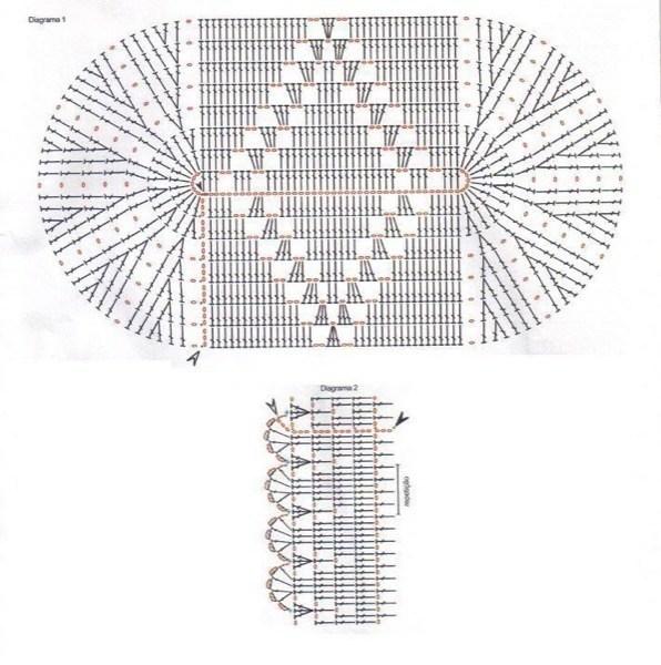 15-Tapetes de Barbante com gráficos