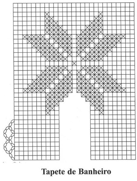 27-Tapetes de Barbante com gráficos