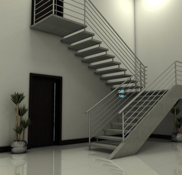 7-escadas retas modelos