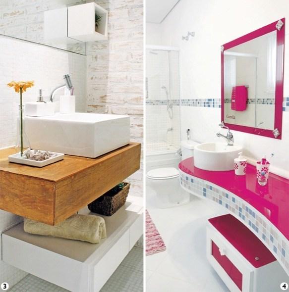 10 modelos de banheiros com pastilhas coloridas e dicas de uso -> Bancada De Banheiro Com Pastilha De Vidro