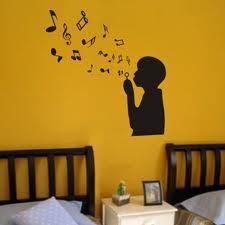 Adesivo nota musical parede