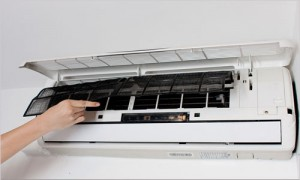 Limpeza de ar condicionado filtros