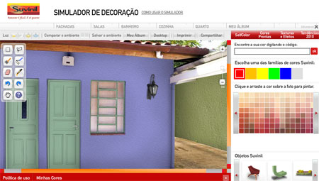 Simulador decoração Suvinil modelo