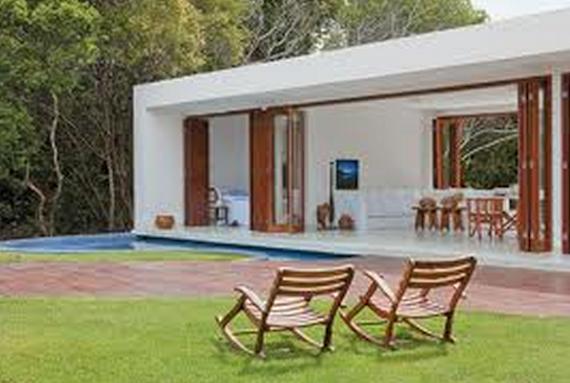 decoracao kitnet praia:Plantas de Casas de Praia: 41 Modelos e projetos