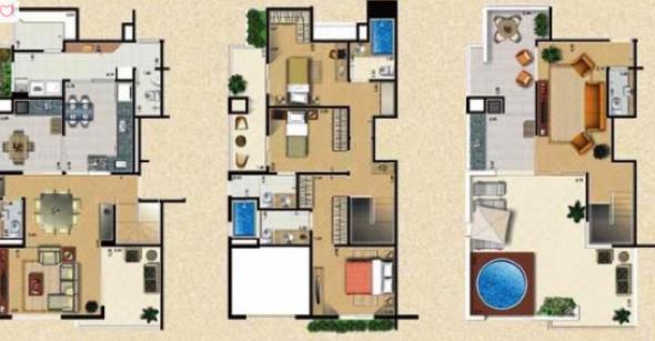 1-plantas de casas triplex