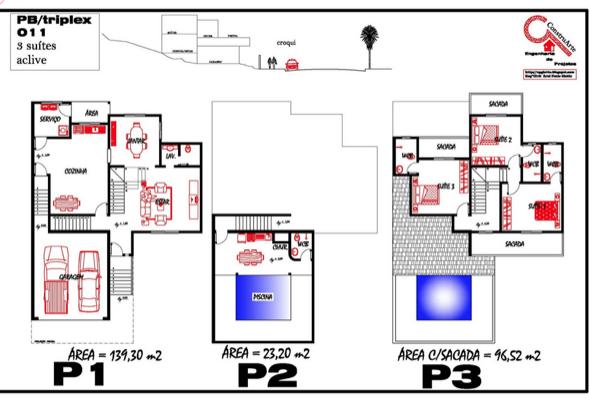 5-plantas de casas triplex