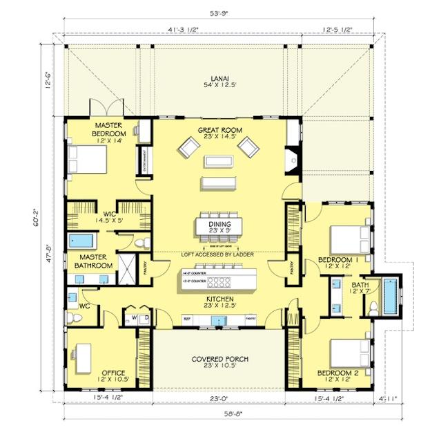 Plantas de casas de campo 5 lindos modelos para construir for Bathroom house plans