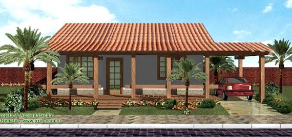 Planta de casa de campo modelo - Construir casa de campo ...