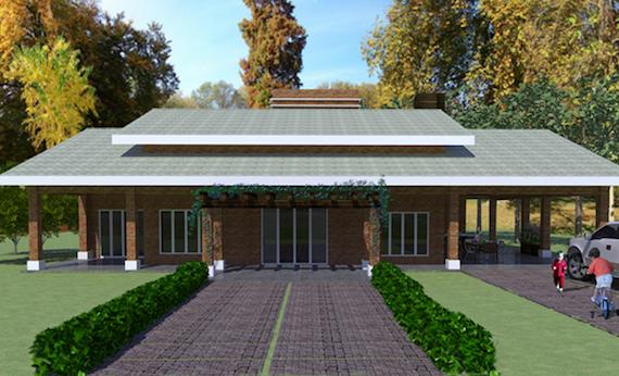 Plantas de casas de campo 5 lindos modelos para construir - Fachadas casas de campo ...