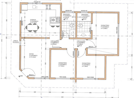 Planta de casa de campo modelo18 for Modelo de casa de campo