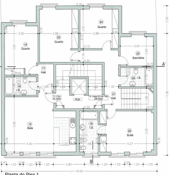 Planta de casa de campo modelo20 for Modelo de casa familiar