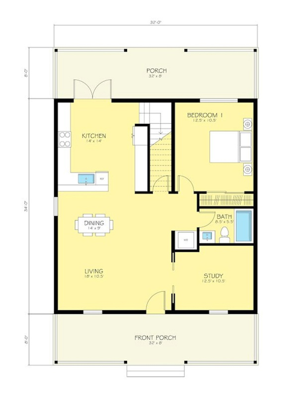 Plantas De Casas De Campo Gratis E Modernas on 500 Sq Ft One Bedroom Apartment Floor Plans