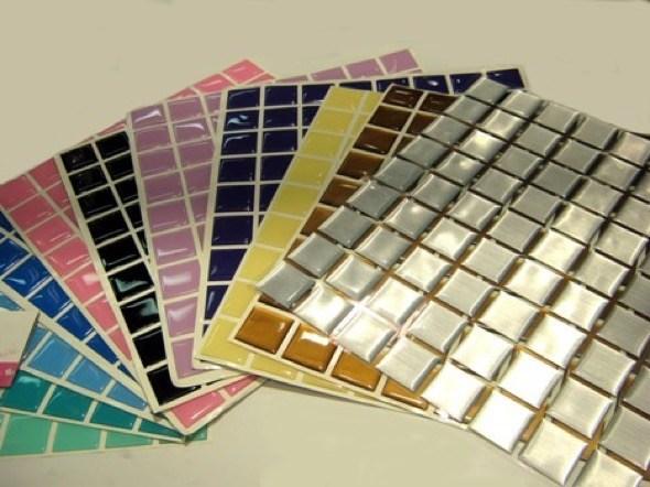 1-pastilhas de vidro adesivas
