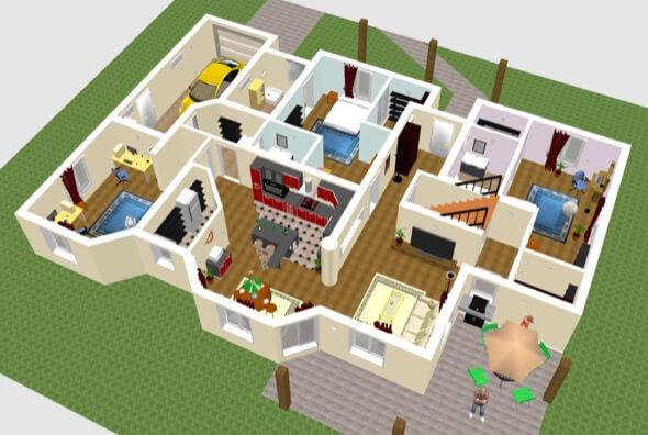 1-plantas de casas 3d modelos