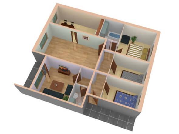 12-plantas de casas 3d modelos