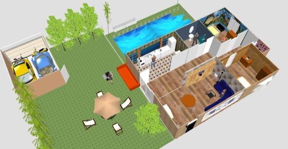 14-plantas de casas 3d modelos