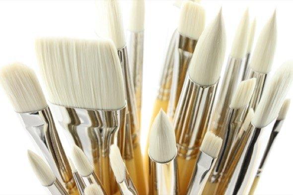 2-como limpar pinceis de tinta