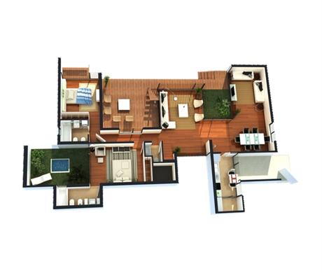 Plantas de casas em 3d 34 modelos e softwares for Modelos de casas de una planta modernas