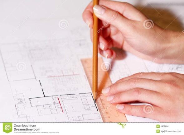 3-desenhar plantas de casas a maos livre