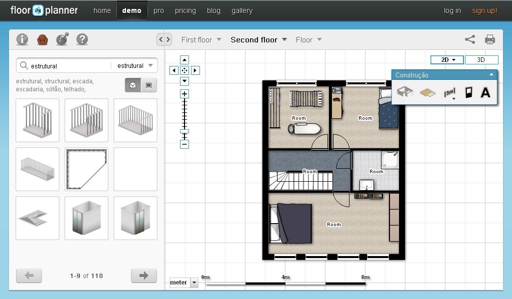 Desenhar plantas de casas m o livre ou online for Casa online