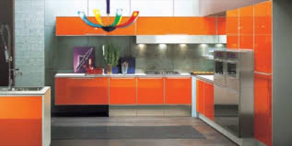 13-armarios de cozinha laranja