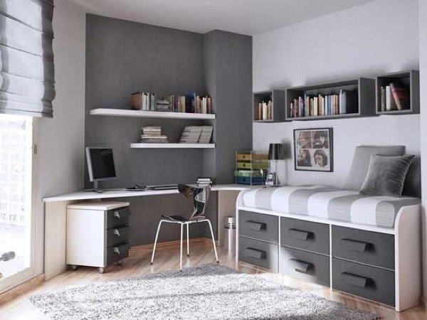 27-parede cinza na decoração salas e quartos