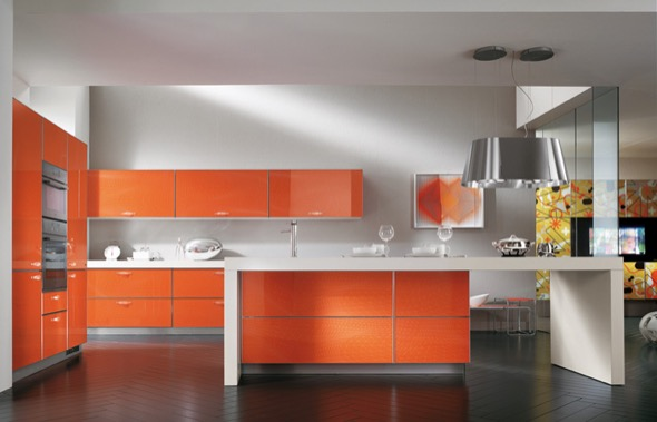 3-armarios de cozinha laranja