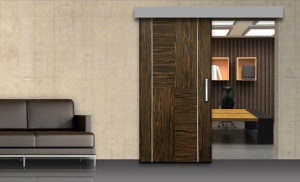 3-porta de correr de madeira