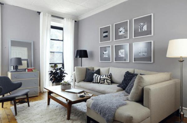 40-parede cinza na decoração salas e quartos