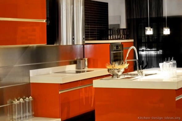 5-armarios de cozinha laranja