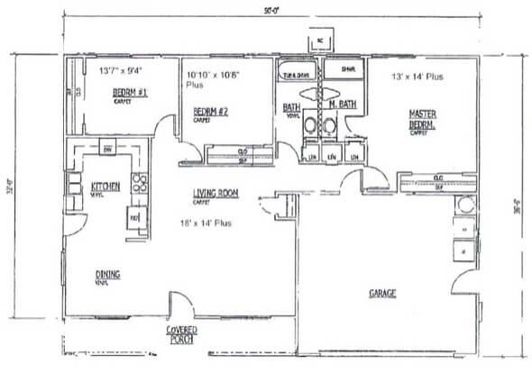 1-plantas de casas 3 quartos modelos