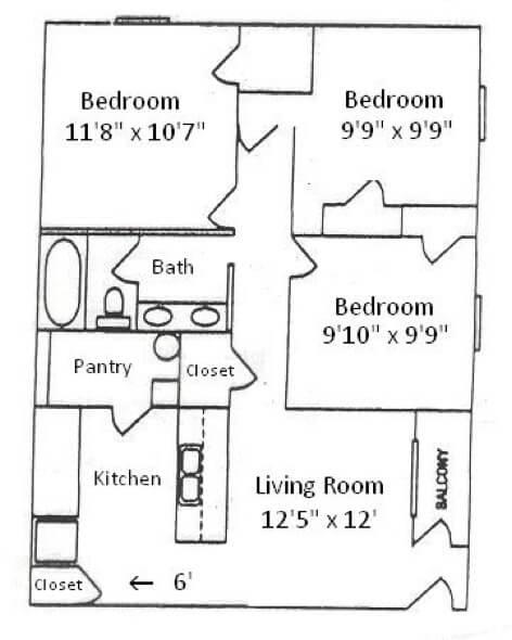 15-plantas de casas 3 quartos modelos