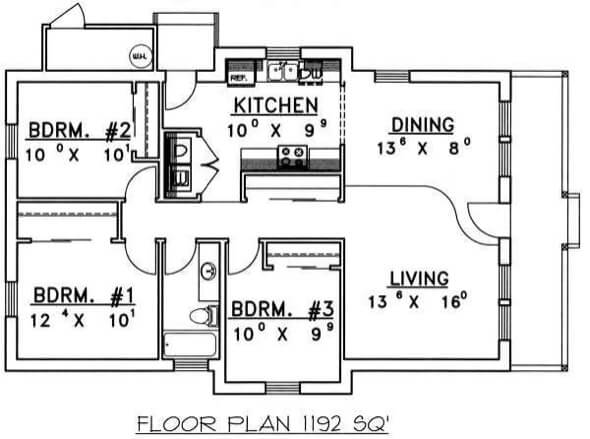 18-plantas de casas 3 quartos modelos