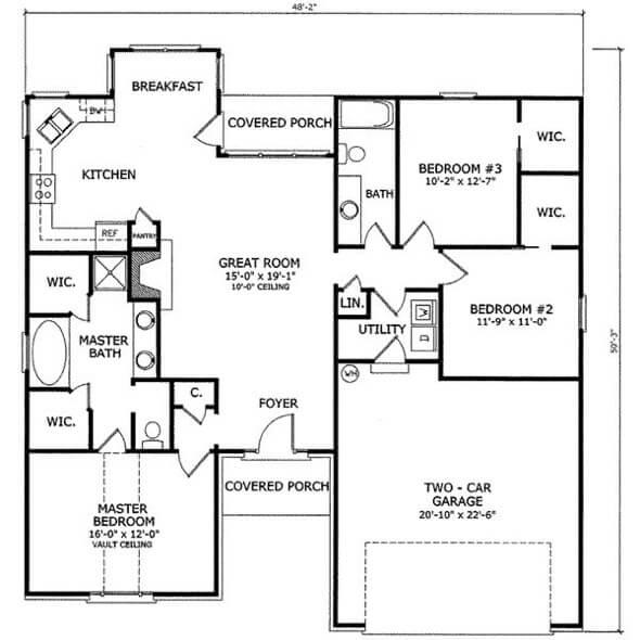25-plantas de casas 3 quartos modelos