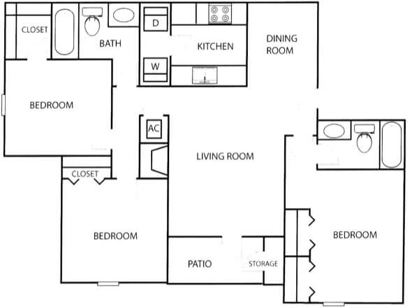 33-plantas de casas 3 quartos modelos