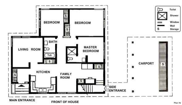 34-plantas de casas 3 quartos modelos