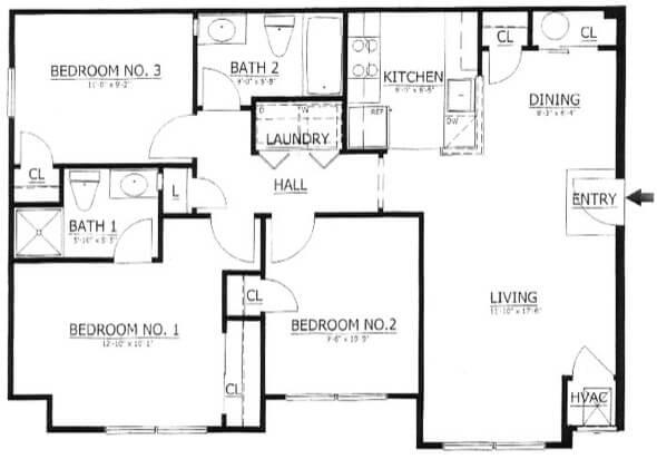 44-plantas de casas 3 quartos modelos