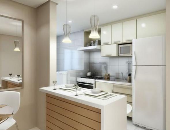 Cozinha planejada pequena 41 modelos e projetos - Armarios para casas pequenas ...