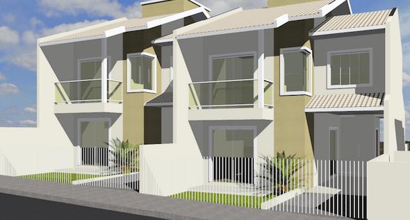 Plantas de casas com 2 pisos 25 modelos ispiradores for Casa moderna 2 andares 3 quartos