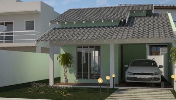 31 modelos de casas pequenas e fachadas para construir for Modelos de sala de casa