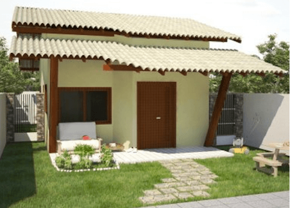 31 modelos de casas pequenas e fachadas para construir for Modelos jardines para casas pequenas