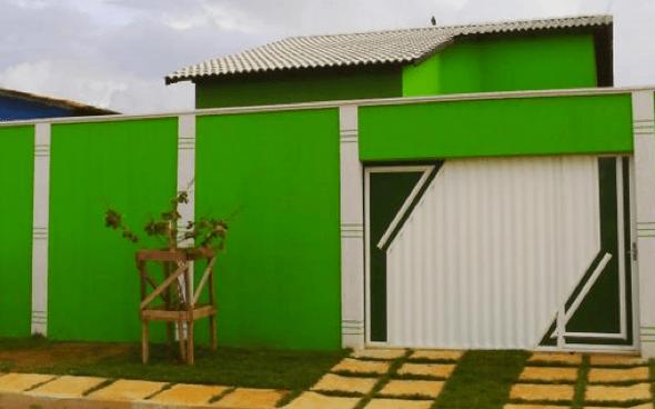 Cores para pintar a casa por fora with cores para pintar for Pinturas para pintar casas