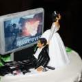 Bolo de casamento Geek 7