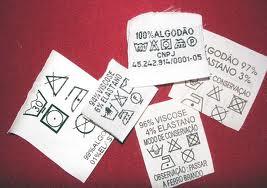 Códigos das Etiquetas para Lavar Roupa