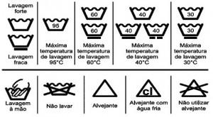 Códigos das Etiquetas para Lavar Roupa 2